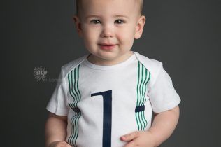 One year old boy portrait session